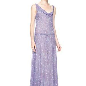 BLUE Diane Von Furstenberg Tadd Cowl Maxi Dress